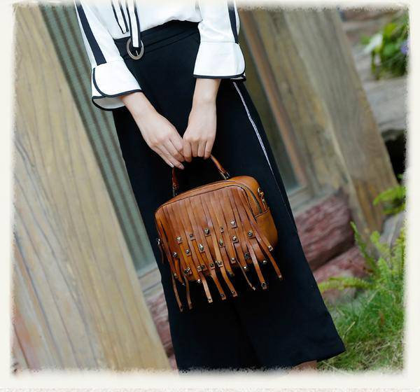 Sale, Vintage Full Grain Leather Shoulder Bag, Designer Handbag For Women image 5
