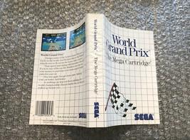 World Grand Prix **ORIGINAL CASE/BOX ART ONLY** Sega Master System - WORN - $4.27