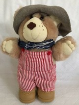 "Cabbage Patch Furskin Bear Plush 7"" Moody Hollow Dudley Store Manager 1986 - $13.85"