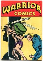 Warrior Comics #1 1945- Iron Man- Wings Brady Golden Age comic VG/F - $181.88