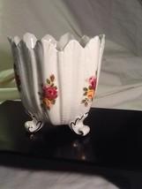 Very Rare Radnor Bone China - Hand Painted Hand Made Footed Vase/Planter - Engla - $18.85