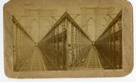 Early View Brooklyn Bridge New York City Oversized Stereoview Photo Card   - $14.95