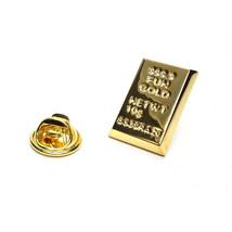 Gold Ingot very detailed pin badge, gold Lapel Pin Badge in gift box