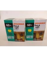 Yellow Bug Light Bulb 60W Watt Sylvania 4 Pack Outdoor Porch Non-attract... - $12.95