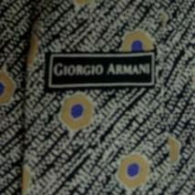 Black Gray Purple Abstract ARMANI Silk Tie - $14.99
