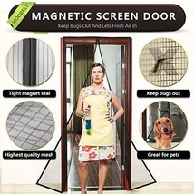 Magnetic Screen Door With Heavy Duty Mesh And Full Frame Velcro-Keep Bu... - $48.14