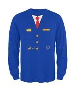 Halloween Train Conductor Costume Royal Adult Long Sleeve T-Shirt - $28.00+
