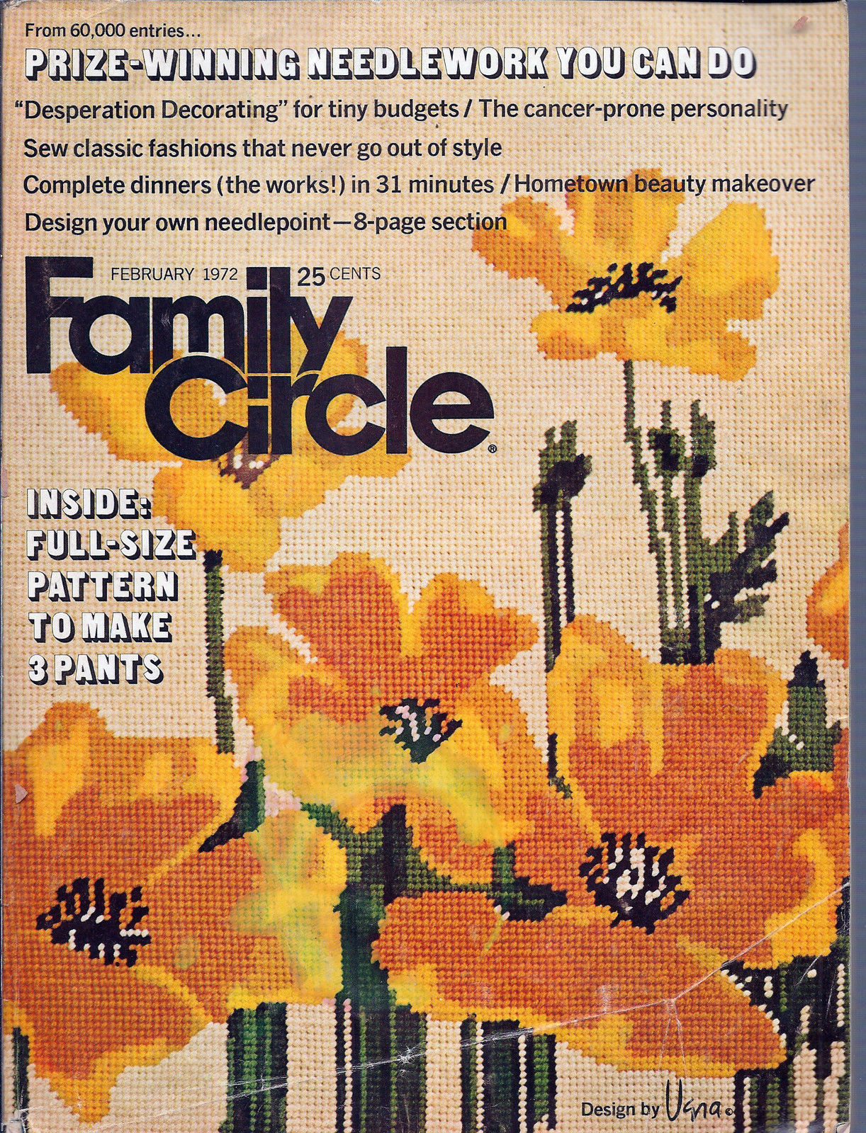 Primary image for Family Circle  Magazine February 1972 Desperation Decorating for Tiny Budgets