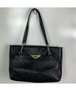 Karl Lagerfeld Paris Purse Tote Black Leather - $222.75