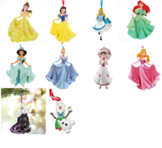Disney Princess Christmas Ornament Theme Parks New - $39.55+
