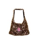 Hand Knit Brown/Pink Over-The-Shoulder Bag - $34.54