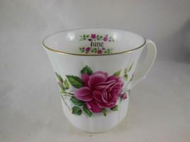 Duchess Coffee Tea Cup English Bone China Dark Pink Rose June Birthday G... - $6.92