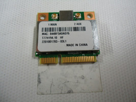 Acer Aspire 5733 Series WIRELESS WIFI NETWORK PCI-E MINI CARD T77H194.10 - $4.70