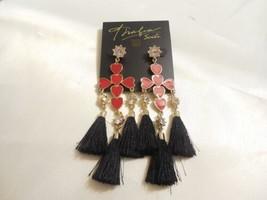 Thalia Sodi Gold-Tone Pave & Heart Stone Drop Earrings L886 $29 - $16.31
