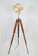 NauticalMart Vintage Stage Searchlight Wooden Tripod Stand  - $159.00