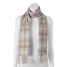 Fraas Women's Plaid Multi Colorblock Neutral Scarf Blanket Wrap One Size - $23.76