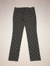 Express Columnist Slim Pants Size 4 Reg Inseam 31 Black Off White NWT $79 - $58.05