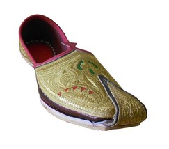 Men Shoes Indian Handmade Traditional Espadrilles Punjabi Khussa Jutties US 8  - $39.99