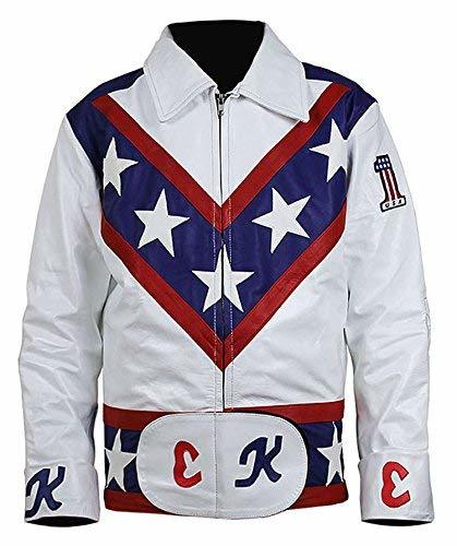 Evel Knievel Daredevil White Biker Leather Costume Jacket Pants