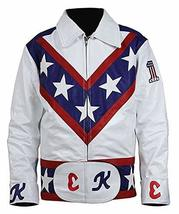 Evel Knievel Daredevil White Biker Leather Costume Jacket Pants image 1