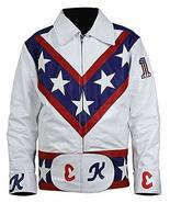 Evel Knievel Daredevil White Biker Leather Costume Jacket Pants - $63.65+