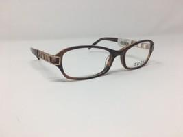 Authentic Tura Eyeglasses 51-17-130 Brown/Gold Plastic China Rectangular... - $55.62