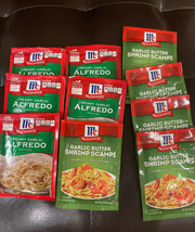(10)McCormick 5-Creamy Garlic Alfredo & 5-Shrimp Scampi Mix 0.87oz Exp 2022 - $65.78