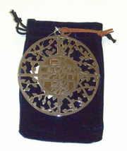 Judaica Kabbalah Round Wall Hang Hebrew Silver Gold Plated Psalms Thee Jerusalem image 4