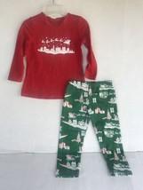 Christmas Pajamas Size 3T 4T Boy Girl Red Green Sleigh Santa Sleepwear 2... - $14.85