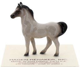 Hagen-Renaker Miniature Ceramic Horse Figurine Tiny Gray Stallion image 1