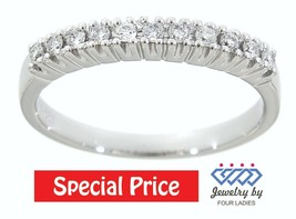 Solid 14K White Gold 0.18 Carat Real Natural Diamond Fancy Ring Fine Jew... - $309.15
