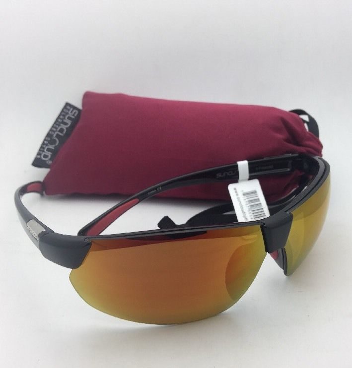 New SUNCLOUD POLARIZED OPTICS Sunglasses SWITCHBACK Black Frame w/ Red Mirror