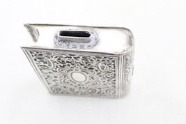 Judaica Vintage Silver Filigree Tzedakah Charity Box Book Design image 2