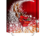 Throom waterproof cortina navidad christmas decoration for home shower curtain for thumb155 crop