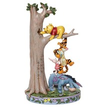 "Jim Shore ""Hundred Acre Caper "" Winnie the Pooh, Tigger, Eeyore, Piglet in Tree"