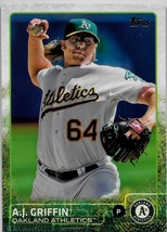 2015 Topps  Baseball Card, #554, A J Griffin, Oakland Athletics - $0.99
