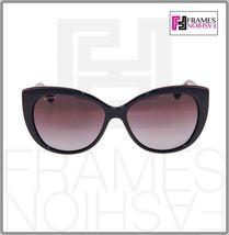 BVLGARI LOGO BV8157BQ Black Burgundy Leather Violet POLARIZED Sunglasses 8157 image 6