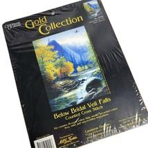 "Candamar Gold Collection Below Bridal Veil Falls Cross Stitch Kit 12""x16""  - $24.75"