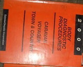 2000 DODGE CARAVAN BODY Diagnostic Procedures Service Shop Repair Manual... - $8.78