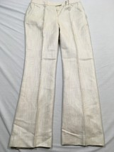 M18 ANNE KLIEN Casual Sparkle  White Casual Suit Pants WOMEN'S 4 - $13.81