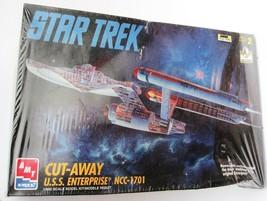 Star Trek Cut-Away USS Enterprise Model Kit AMT 1:650 Scale 8790 NEW UNO... - $24.65