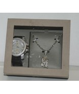Techno Pave Dappen 1106C Silver Color Watch Jesus Necklace Simulated Dia... - $30.00