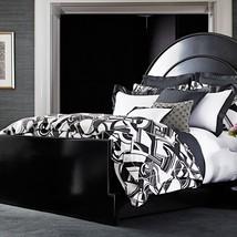 Ralph Lauren ELLINGTON Black White Art Deco 3P Queen duvet cover set $690 - $193.95