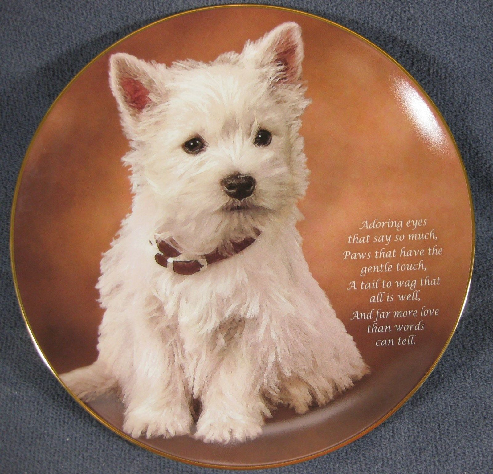 Primary image for Adoring Eyes Collector Plate From Beloved Westies Danbury Mint Bradex 22-D39-1.5