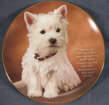 Adoring Eyes Collector Plate From Beloved Westies Danbury Mint Bradex 22... - $79.97