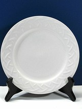 24 Oneida Picnic Embossed Basket Weave 6 Inch Bread and Butter Plates Lo... - $38.22