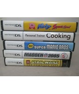 Nintendo DS  EMPTY GAME CASE LOT of 5  Manual Mario Kirby Lego Madden Co... - $25.00