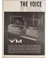 1959 Print Ad VM Voice of Music Phono Record Player,Speakers Benton Harb... - $10.87
