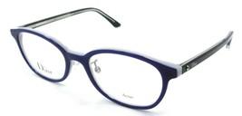 Christian Dior Rx Eyeglasses Frames Montaigne 28F SGL 50-19-140 Blue / Black - $161.70