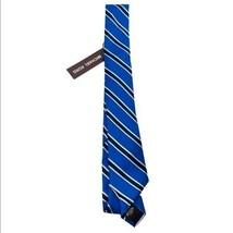 Michael Kors Silk Tie Blue Black Striped NWT - $24.75